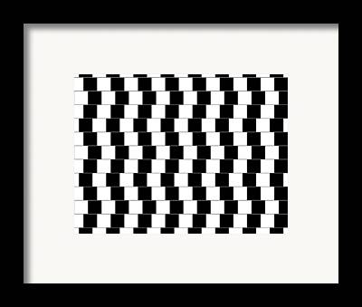 Optical Illusions Framed Prints