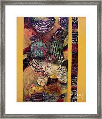 Parallel Universe Framed Print by Donna Frost