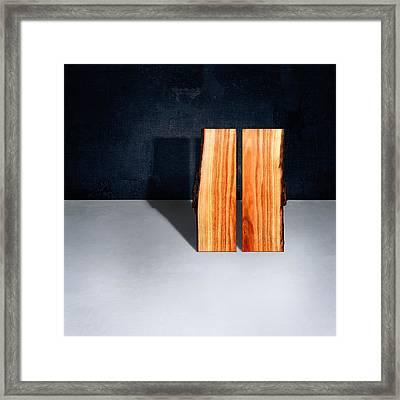 Parallel Wood Framed Print