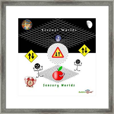 Parallel Worlds Framed Print