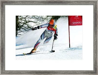 Paralympics Skiier Framed Print