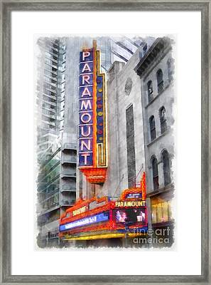 Paramount Theater Boston Ma Framed Print by Edward Fielding