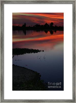 Parana Sunset Framed Print