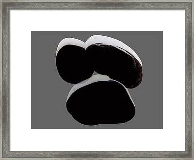 Paranormale Stones - Shadows Framed Print