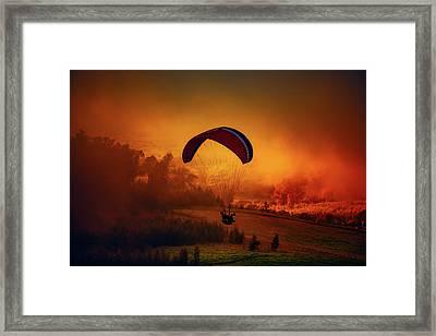 Parasail Serenity Framed Print by Anton Repponen