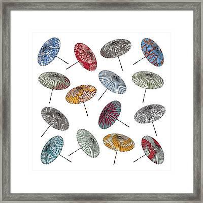 Parasols Framed Print by Sarah Hough