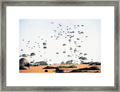 Paratroopers From The 82nd Airborne Framed Print by Everett