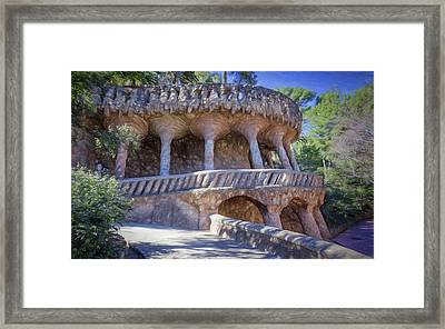 Parc Guell Walkway Framed Print by Joan Carroll