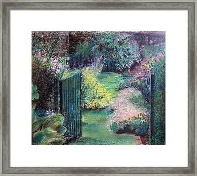 Parc Framed Print by Muriel Dolemieux