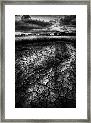Framed Print featuring the photograph Parched Prairie by Dan Jurak