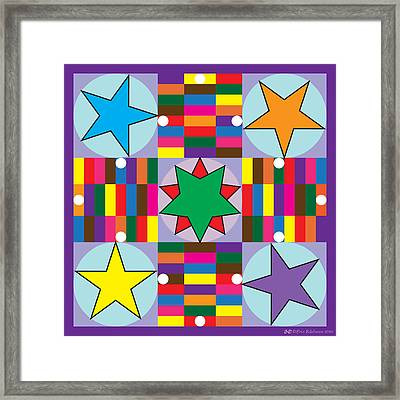 Parcheesi Board Framed Print