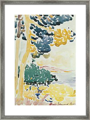 Pardigon Framed Print by Henri-Edmond Cross