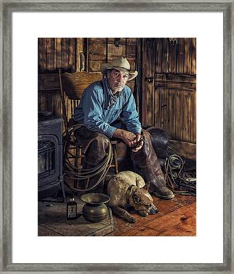 Pardners Framed Print by Ron McGinnis