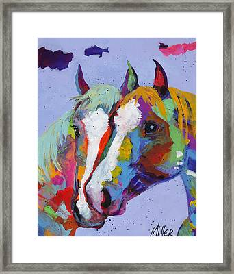 Pardners Framed Print by Tracy Miller