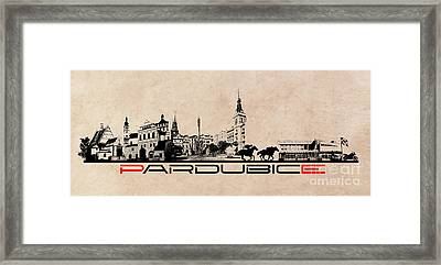 Pardubice Skyline City Framed Print