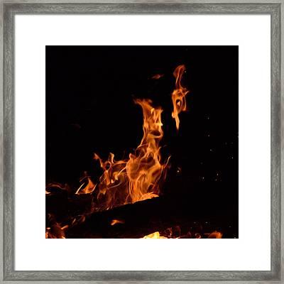 Pareidolia Fire Framed Print