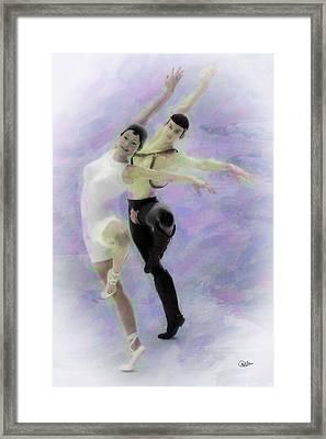 Pareja De Bailarines Framed Print by Joaquin Abella