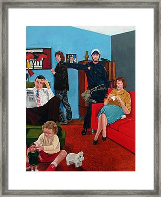 Parenting In The Sixties Framed Print by Cecil Williams
