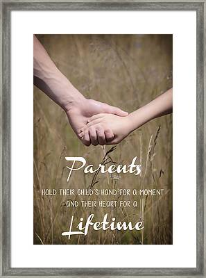 Parents For A Lifetime Framed Print by Joana Kruse