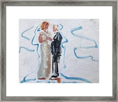 Parents Of The Bride Framed Print