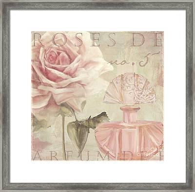Parfum De Roses I Framed Print by Mindy Sommers