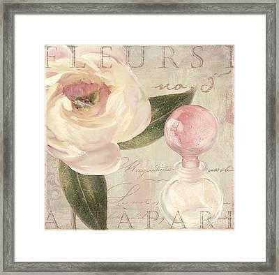 Parfum De Roses II Framed Print by Mindy Sommers