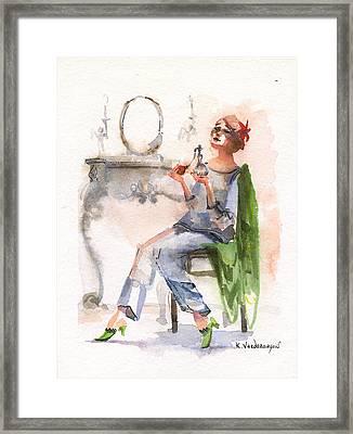 Parfum Framed Print by Kristina Vardazaryan
