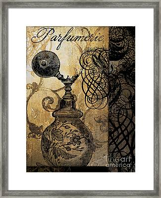 Parfumerie I Framed Print by Mindy Sommers