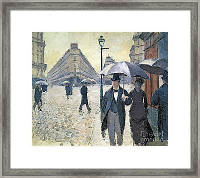 Paris A Rainy Day Framed Print by Gustave Caillebotte