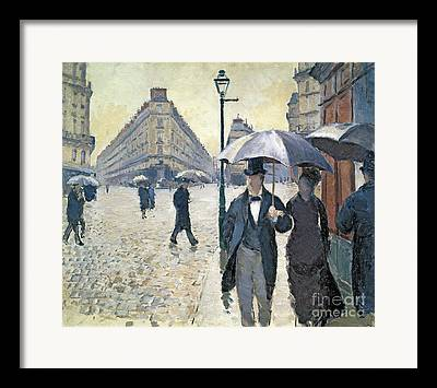 French Street Scene Paintings Framed Prints