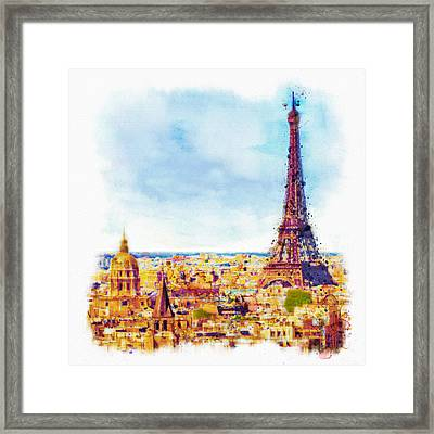 Paris Aerial View Framed Print