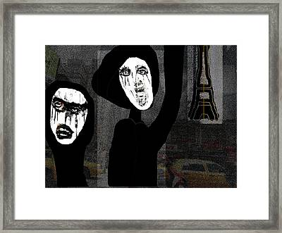 Paris After Dark Framed Print by Rc Rcd
