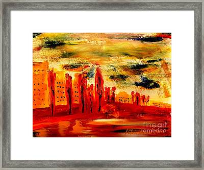 Paris Along The Seine 1 Framed Print by Richard W Linford