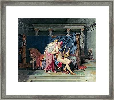Paris And Helen Framed Print by Jacques Louis David