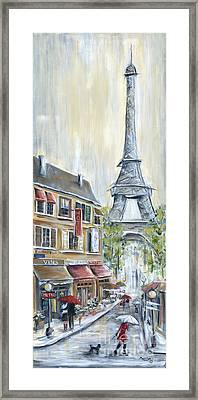 Poodle In Paris Framed Print by Marilyn Dunlap