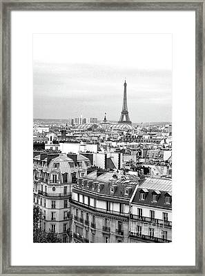 Paris And The Eiffel Tower From Printemps Rooftop  Framed Print by D Renee Wilson
