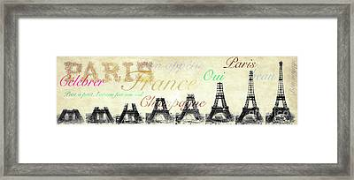 Paris And The Eiffel Tower Framed Print by Jon Neidert