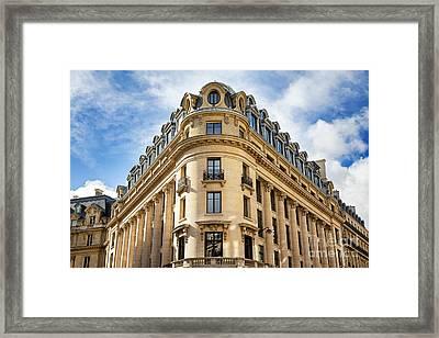 Paris Architecture Framed Print by Jane Rix