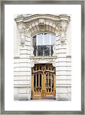 Paris Art Nouveau Door Framed Print by Ivy Ho