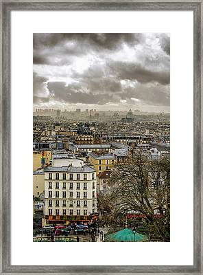 Paris As Seen From The Sacre-coeur Framed Print