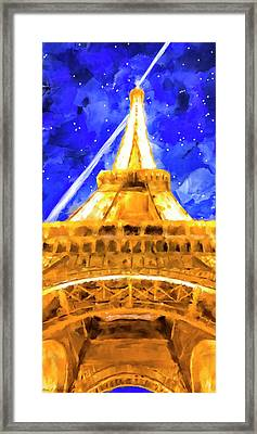 Framed Print featuring the mixed media Paris Ascending by Mark Tisdale