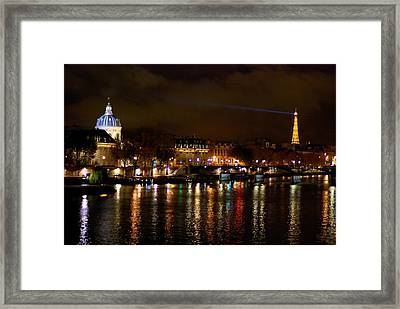 Framed Print featuring the photograph Paris At Night by Steven Richman