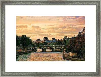 Paris At Sunset Framed Print by Chuck Kuhn