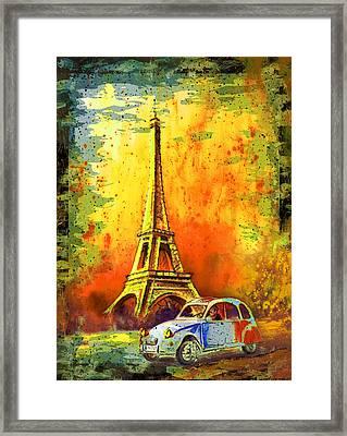 Paris Authentic Madness Framed Print