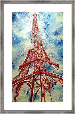 Paris Backdrop Framed Print
