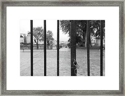 Paris Behind Bars Framed Print