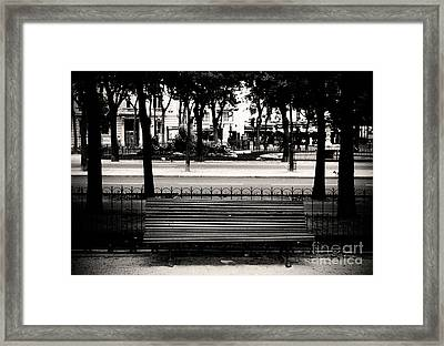 Paris Bench Framed Print