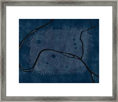 Paris Bleu Marine Framed Print