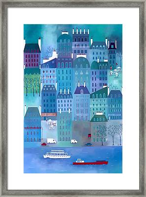 Paris Blues Framed Print by Nic Squirrell