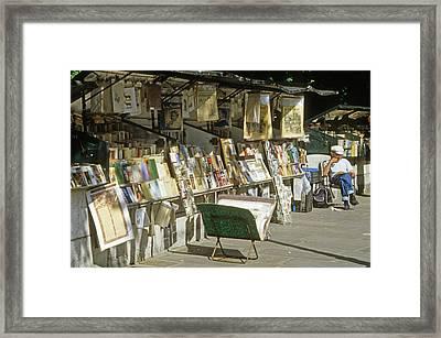 Paris Bookseller Stall Framed Print